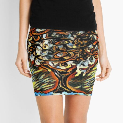 Tree Art 7 designed and created by (c) Janet Watson Art  Mini Skirt