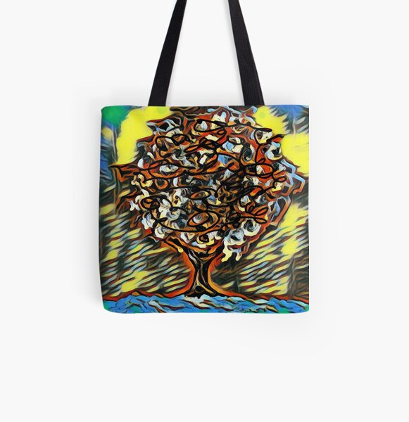 Tree Art 7 designed and created by (c) Janet Watson Art  All Over Print Tote Bag