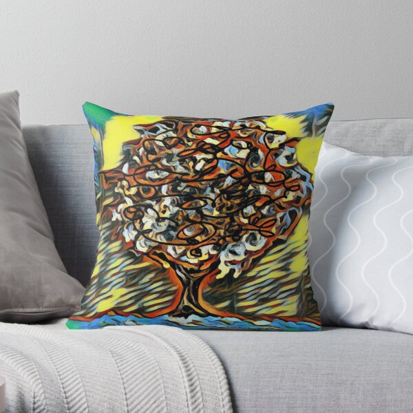 Tree Art 7 designed and created by (c) Janet Watson Art  Throw Pillow