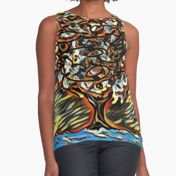 Tree Art 7 designed and created by (c) Janet Watson Art  Sleeveless Top