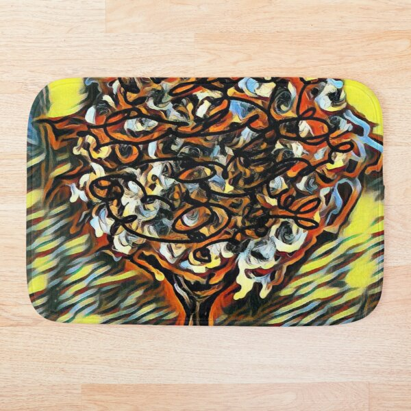 Tree Art 7 designed and created by (c) Janet Watson Art  Bath Mat