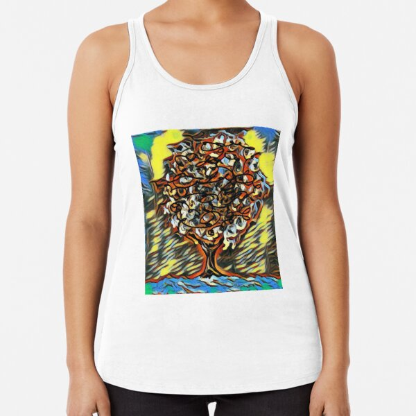 Tree Art 7 designed and created by (c) Janet Watson Art  Racerback Tank Top