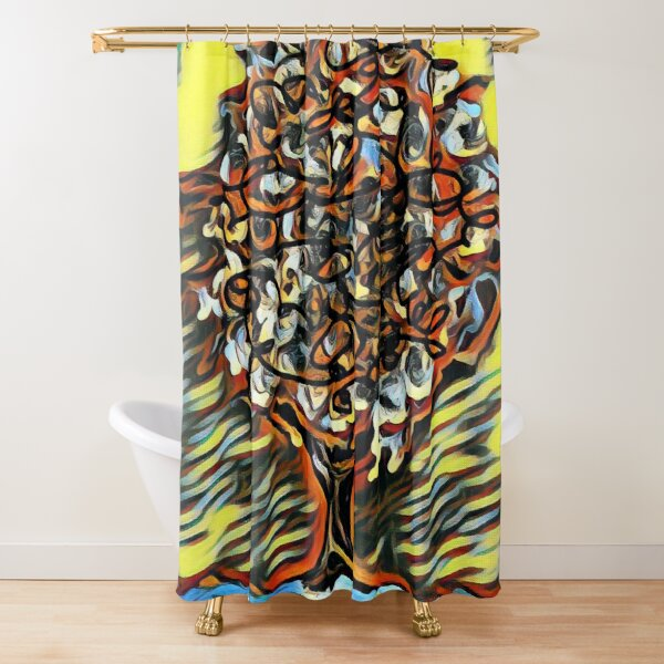 Tree Art 7 designed and created by (c) Janet Watson Art  Shower Curtain