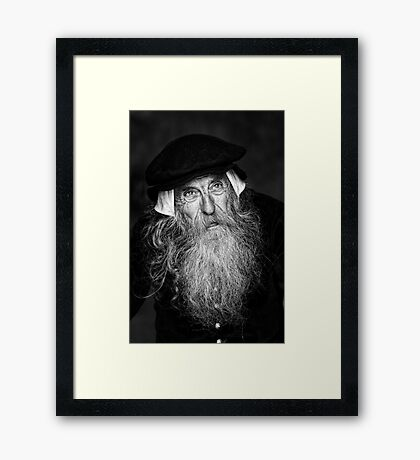 A Wise Old Man Framed Print