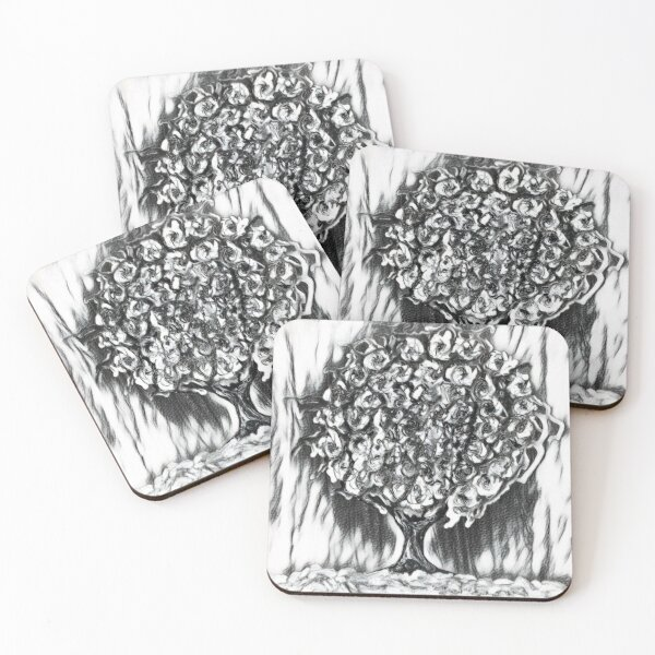 Tree Art 2 designed and created by (c) Janet Watson Art  Coasters (Set of 4)