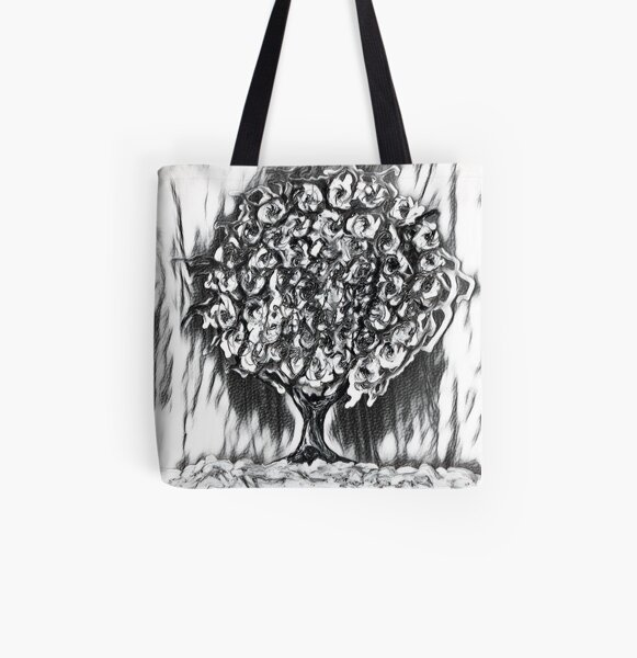 Tree Art 2 designed and created by (c) Janet Watson Art  All Over Print Tote Bag