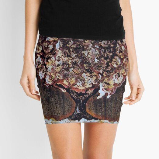 Tree Art 1 designed and created by Janet Watson Art  Mini Skirt