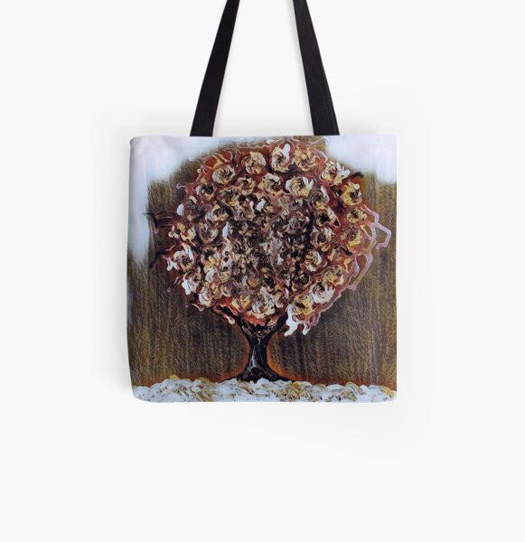 Tree Art 1 designed and created by Janet Watson Art  All Over Print Tote Bag