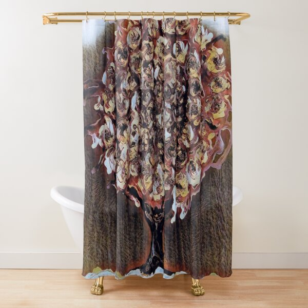 Tree Art 1 designed and created by Janet Watson Art  Shower Curtain