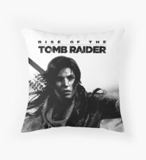 Rise of the Tomb Raider Throw Pillow