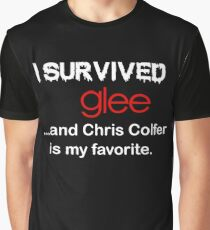 I survived glee...and Chris Colfer is my favorite. Graphic T-Shirt