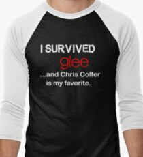 I survived glee...and Chris Colfer is my favorite. Men's Baseball ¾ T-Shirt