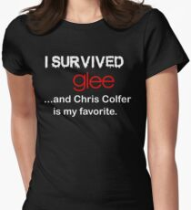 I survived glee...and Chris Colfer is my favorite. Womens Fitted T-Shirt