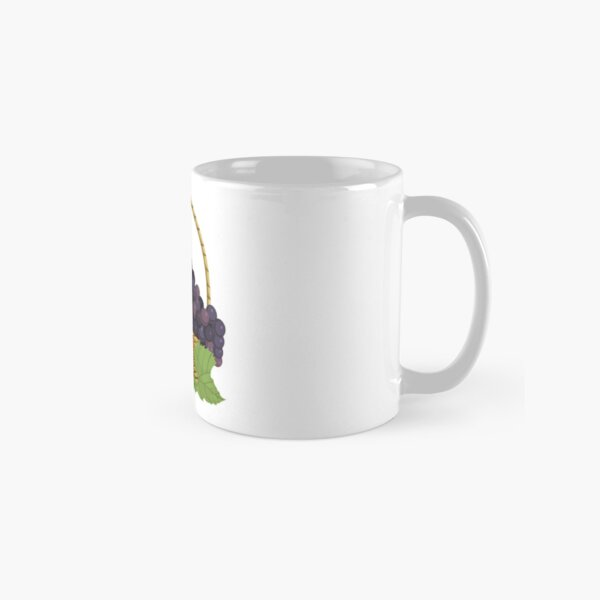 Black and white grapes in basket Classic Mug