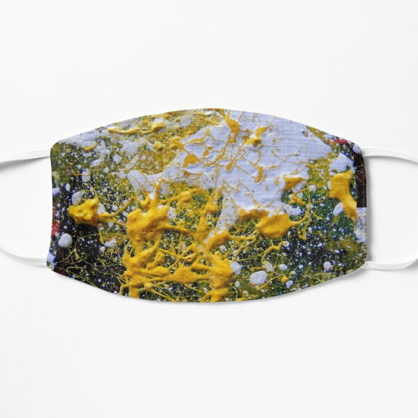 FUNKY YELLOW SPACE GALAXY Mask