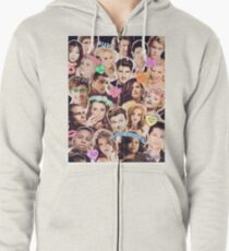 glee cast collage Zipped Hoodie