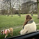 London - Doggy time by Jean-Luc Rollier
