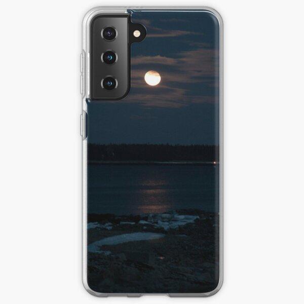 Full Moon over a Frozen Bay Samsung Galaxy Soft Case