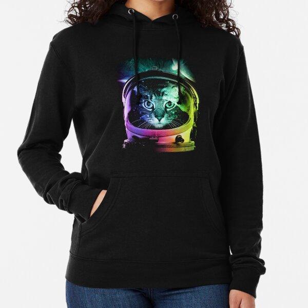 Feline Kitty Breed Sphynx Cat Domestic Pet Humor Space Suit Hoodie