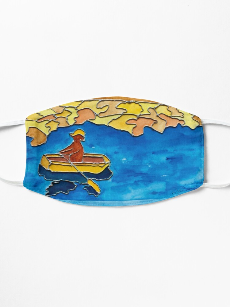 Alternate view of CUTE ROWING FUNNY QUOTE OCEAN ART Mask