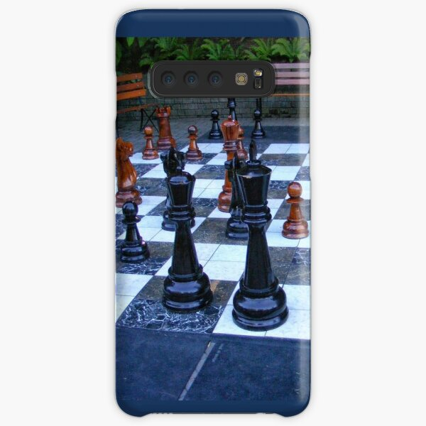 BLACK AND WHITE GEOMETRIC OUTDOOR CHESS BOARD GAME  Samsung Galaxy Snap Case