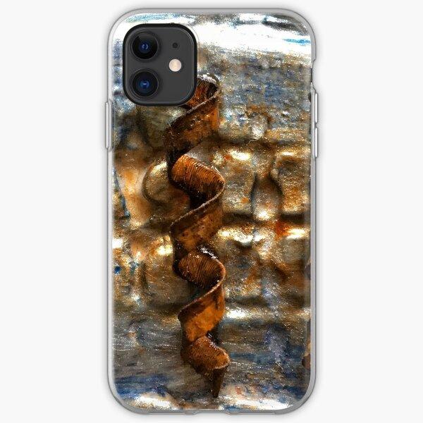 DARK VINTAGE STEAMPUNK RUSTY METALLIC SPIRALS iPhone Soft Case