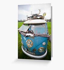 VW Hippy Split Screen Buss Greeting Card