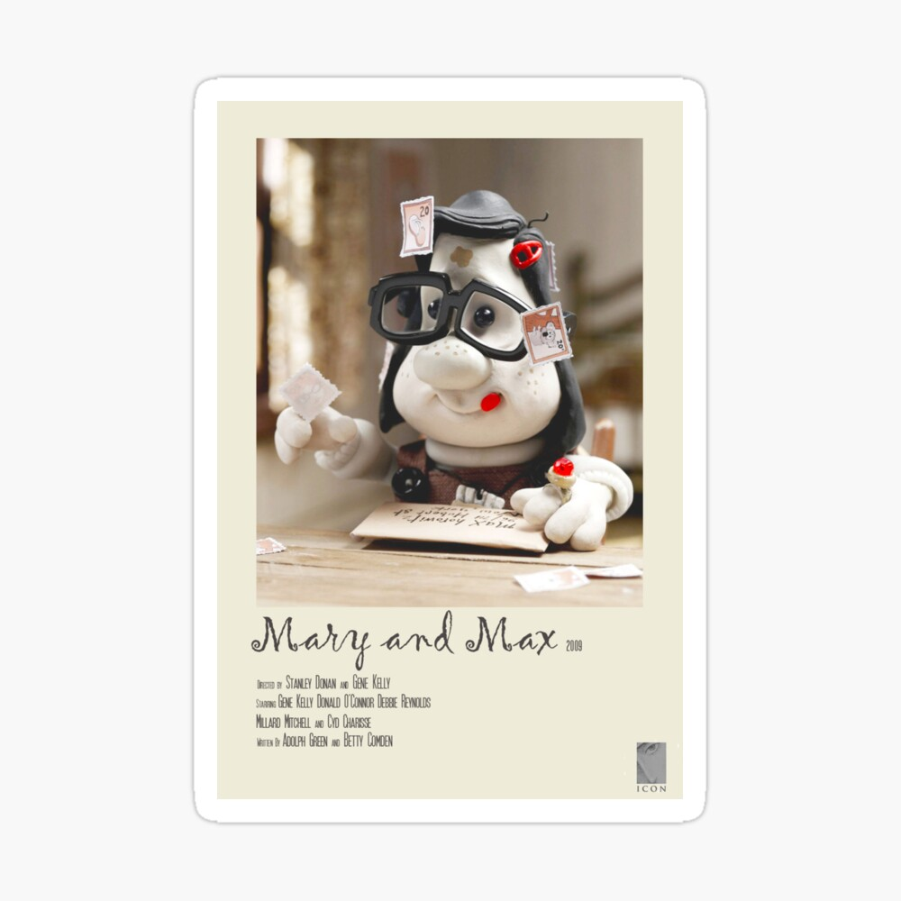 Mary And Max Polaroid Film Poster Iphone Case Cover By Turbomonkey02 Redbubble