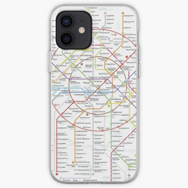 moscow subway iPhone Soft Case