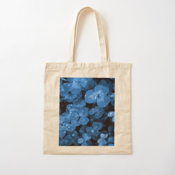 BLUE SERIES Natural textures clover grass close-up Cotton Tote Bag
