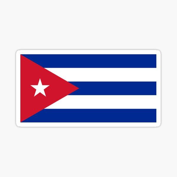 hombre y mujer.  La bandera de Cuba también está disponible como tarjeta de felicitación. Pegatina