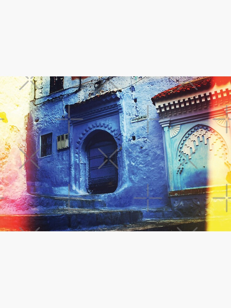"""Traditional Blue Buildings and Doors in """"Chefchaoun"""", Morocco ( Wall Art Only )  by Arteresting"""