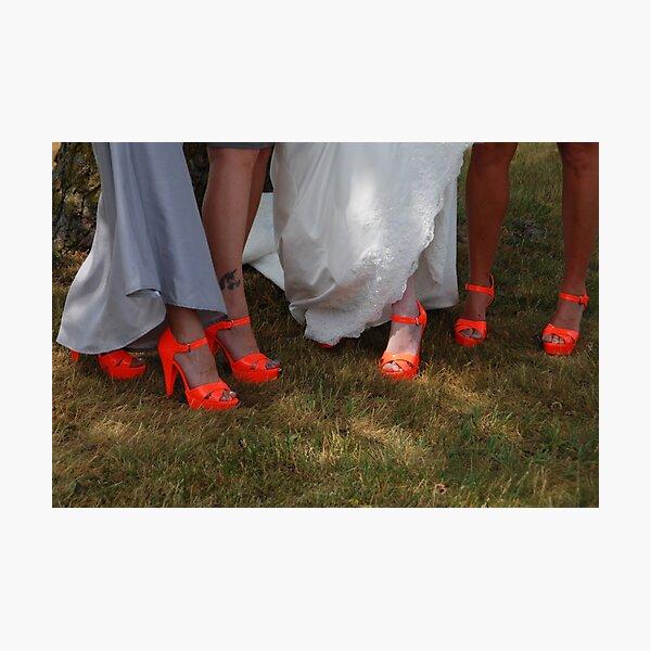 Orange Shoes Photographic Print