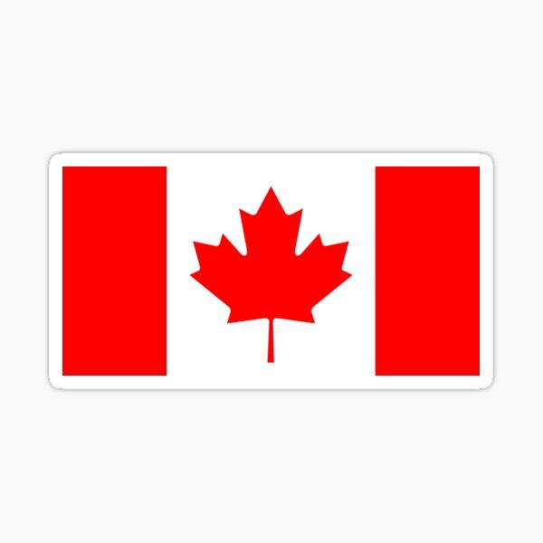 Canadian Flag - National Flag of Canada - Maple Leaf T-Shirt Sticker Sticker