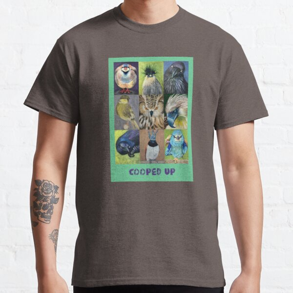 Cooped up birds, a collection 9 different types of birds Classic T-Shirt