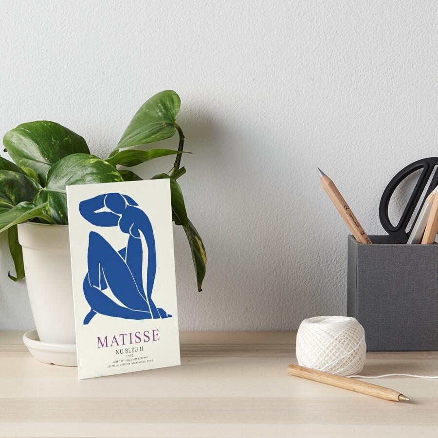 Henri Matisse Nu Bleu II (Blue Nude II) 1952 Artwork for Wall Art, Prints, Posters, Tshirts, Men, Women, Youth Art Board Print
