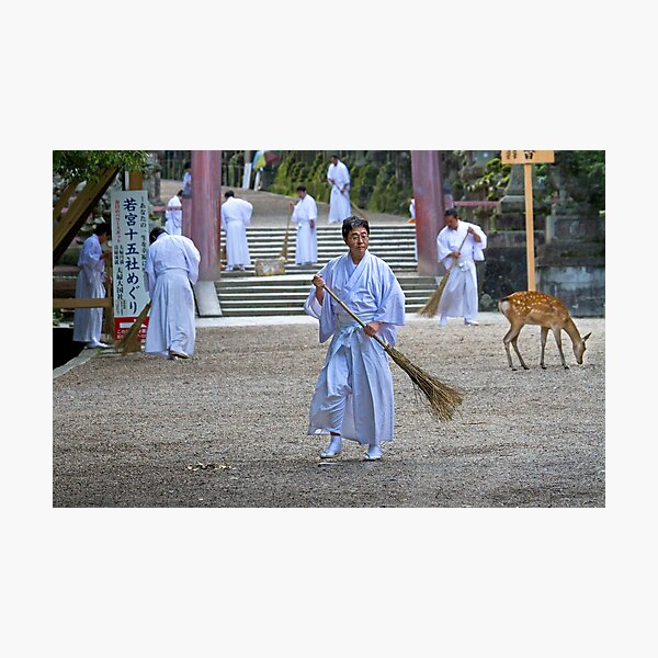 Monks at Work Photographic Print