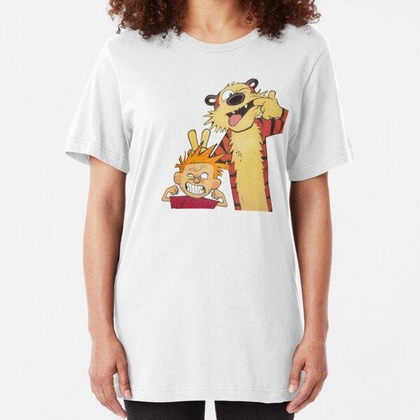 calvin and hobbes 1 Slim Fit T-Shirt