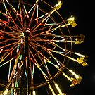 Ferris Wheel At Night by LadyEloise