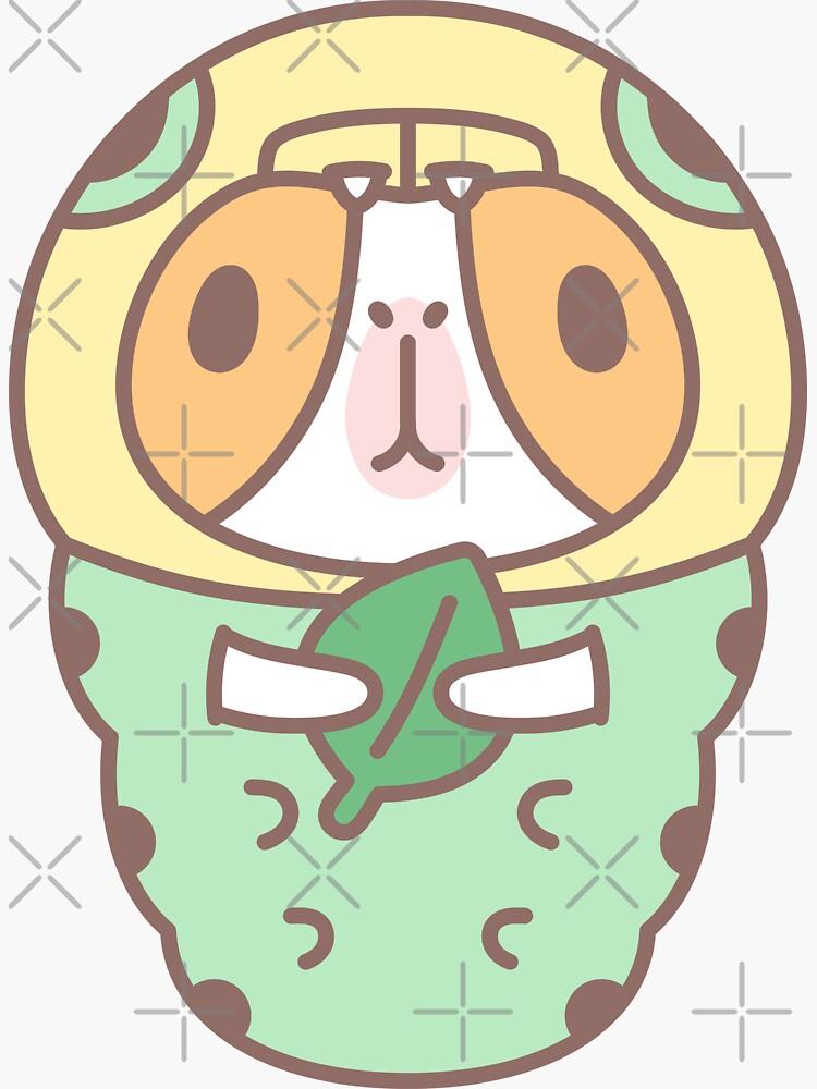 Guinea pig in Green Caterpillar Costume  by Miri-Noristudio