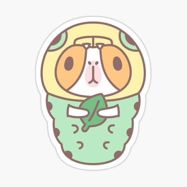 Guinea pig in Green Caterpillar Costume  Sticker