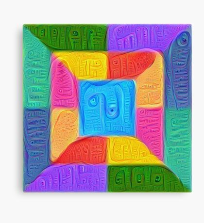 DeepDream Color Squares Visual Areas 5x5K v14 Canvas Print