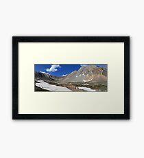 Above Highwood Pass (panorama) Framed Print