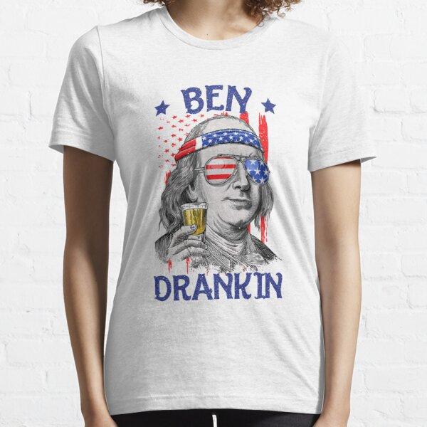 Ben Drankin USA Flag 4th Of July Patriot Essential T-Shirt