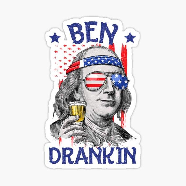 Ben Drankin USA Flag 4th Of July Patriot Sticker