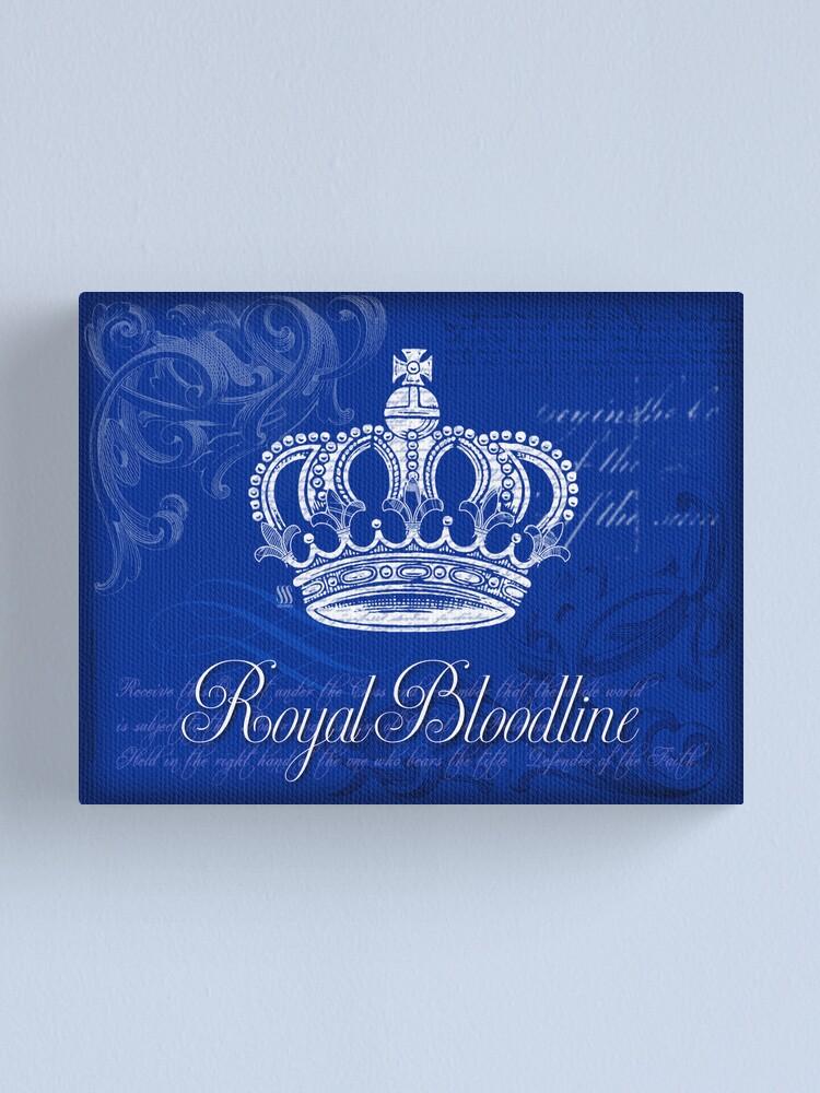 Alternate view of Royal Bloodline - Blue Canvas Print
