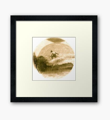 Surfer - Antiqued Framed Print