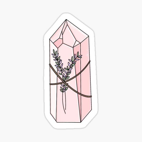 Rose Quartz and Lavender  Sticker