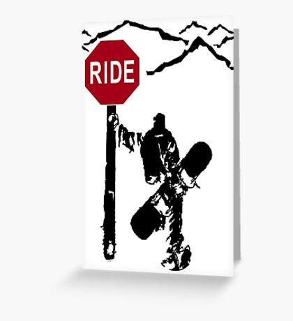 snowboard : directions? Greeting Card
