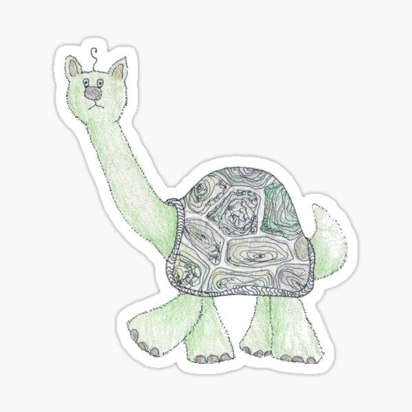 Fluffy Turtle  Sticker